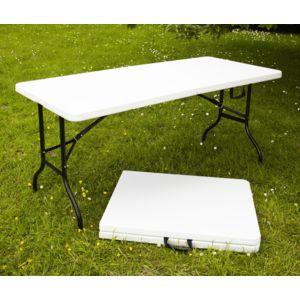 Table pliante multi usage 180x76x74cm blanc pas cher - Table alu pour marche ...