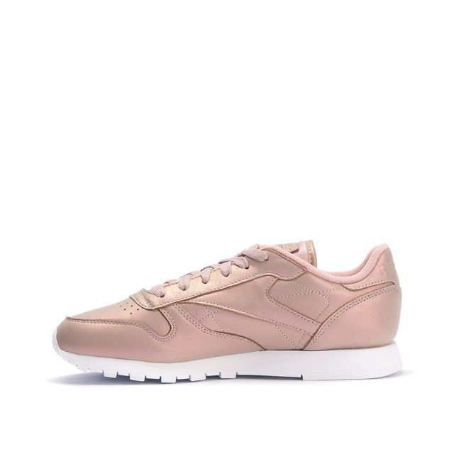 b1964db472455 Reebok - Basket Classic Leather Pearlized - Ref. Bd4308 - pas cher Achat   Vente  Baskets femme - RueDuCommerce