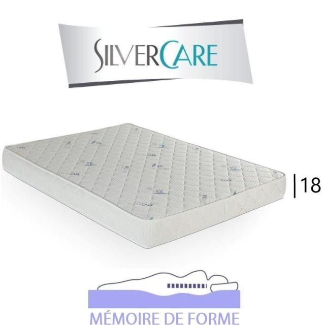 Inside 75 Matelas à mémoire de forme Nota Silvercare épaisseur 18 cm dont 3 cm 50Kg/m3 pour canapé rapido 120 cm