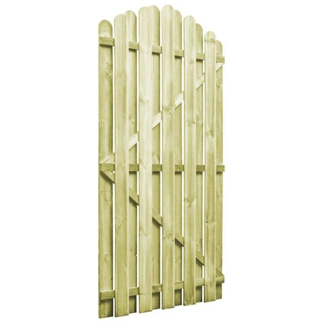 Portail De Jardin Bois Pin Imprégné 100x175 Cm Design D Arche