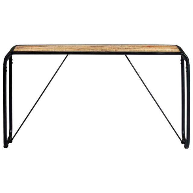 Icaverne - Tables d'appoint gamme Table console 140 x 35 x 76 cm Bois de manguier massif brut