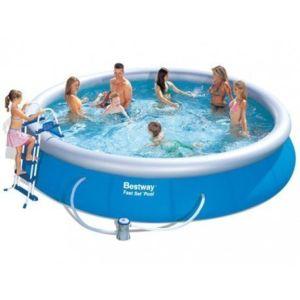 BESTWAY , Kit piscine autoportante ronde 4,57 x 1,07 m avec filtre