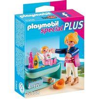 Playmobil - Maman avec bébé et table à langer - Wdk