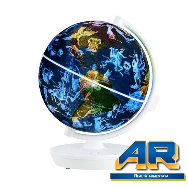 oregon scientific - smartglobe starry - globe interactif 2-en-1 r u00e9alit u00e9 augment u00e9e