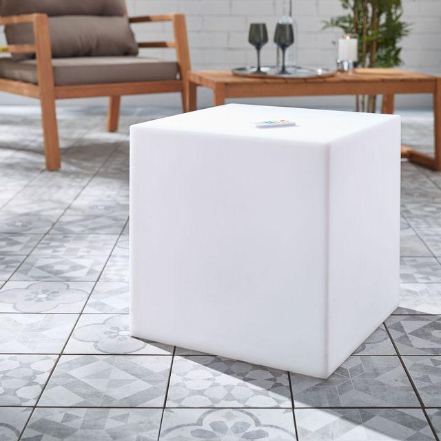Alinéa Cubik Cube Lumineux Multicolore Autonome 40x40cm