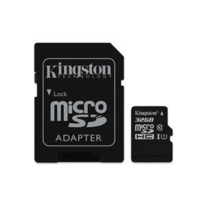 KINGSTON - 32GB microSDHC Class 10 UHS-I 45MB/s Read Card + SD Adapter