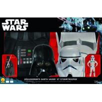 STAR WARS - Coffret de 2 déguisements Dark Vador et Storm Trooper - Taille M - 155030M