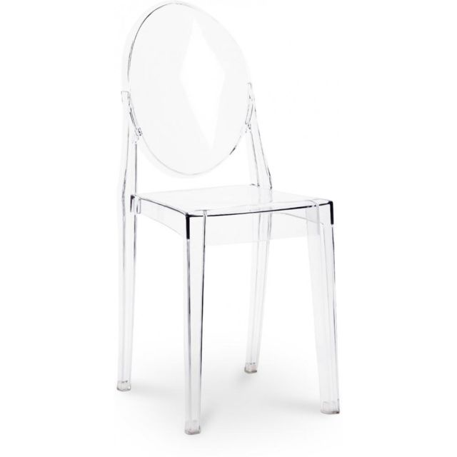 PRIVATEFLOOR - Chaise Victoria Ghost Philippe S. Style - Lot de 4 Transparent