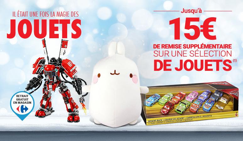 Jusqu'à -15€ de remise supplémentaire sur une sélection de jouets(1)