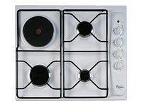 whirlpool table de cuisson mixte gaz et lectrique 60cm 4 feux blanc akm261wh achat plaque. Black Bedroom Furniture Sets. Home Design Ideas