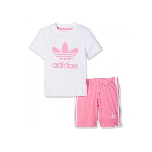 3b6927d2a428a Adidas originals - Ensemble Bébé Fille Rose - pas cher Achat   Vente ...