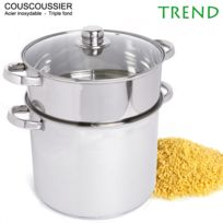 Trend - Couscoussier 11L 26cm triple fond Inox