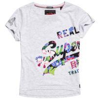 Superdry - Teeshirt Vintage Logo Boxy - pas cher Achat   Vente Polo ... 5efc847e4cc