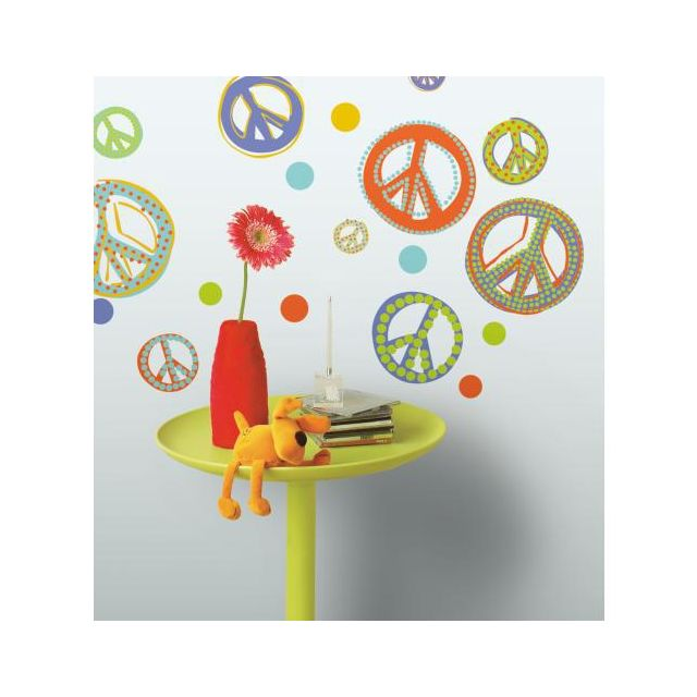 Mon Beau Tapis Stickers Peace And Love Roommates Repositionnables 26 stickers