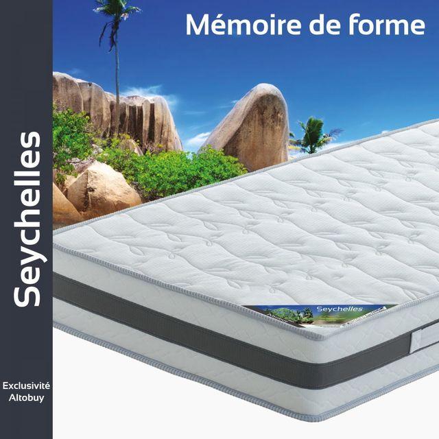 Altobuy Seychelles - Matelas mémoire de forme 90x190cm