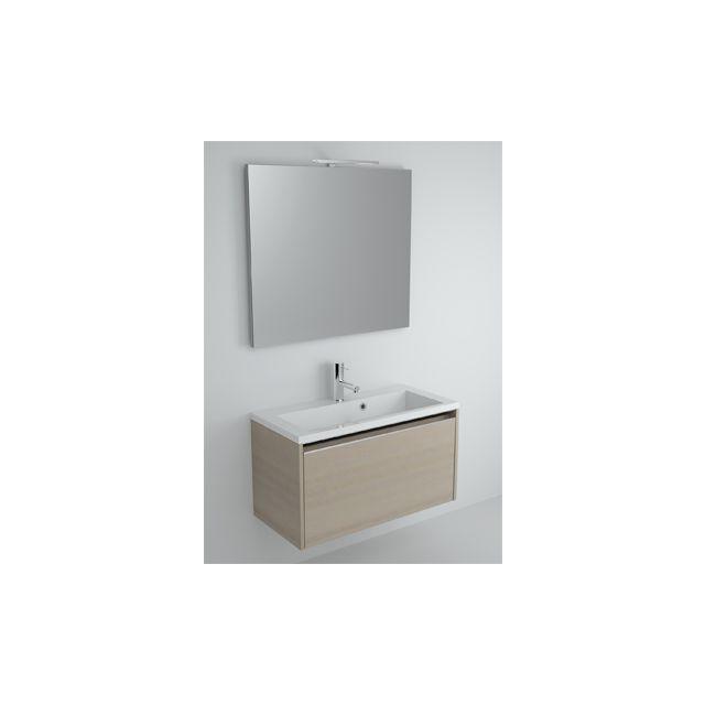 Riho Ensemble meuble & lavabo Eifel Set 25 en bois laqué brillant 80x38 H 45 cm