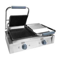 Lacor - Grill électrique double professionnel - 4400w pour grillades et sandwichs - Max 300°C - Grill professionnel