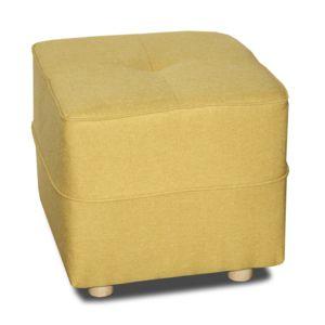 alin a vicky canap pouf en tissu jaune pas cher achat vente poufs rueducommerce. Black Bedroom Furniture Sets. Home Design Ideas