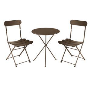 Oasi by emu salon de jardin 2 places acier table ronde for Emu salon jardin