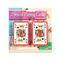 MAISON FUTEE - Lot de 2 Jeux de 54 Cartes