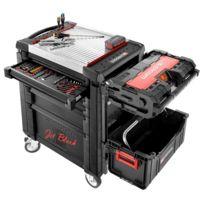 Facom - Servante jet.m3, 6 tiroirs, édition limitée + composition 9 modules et équipement toughsystem jet.blk17im