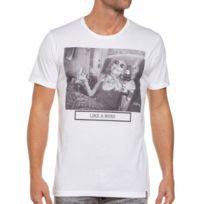 French Kick - T-shirt blanc homme imprimé mamy