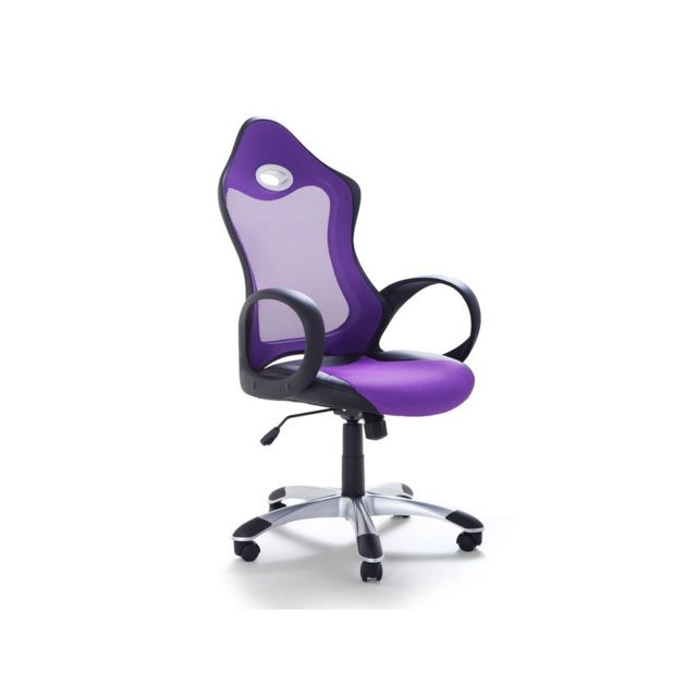 beliani chaise de bureau fauteuil design violet ichair pas cher achat vente chaises. Black Bedroom Furniture Sets. Home Design Ideas