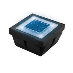Lumihome   Pave   Balisage Sol Encastrable Solaire Led Du0027extérieur Bleu  L10cm Blanc