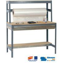 Simon Rack - Kit Etabli avec tiroir 1440x900x750mm - Bt-4 Box 900 Gris Fonce/BOIS