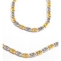 Metronhomme Parures - Parure Collier Chaine Bracelet Acier Homme M H 898