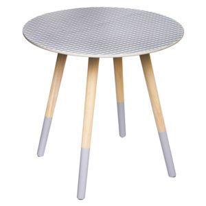 soldes atmosphera table basse mileo imprim parme lovely 48cm bleu violet pas cher achat. Black Bedroom Furniture Sets. Home Design Ideas