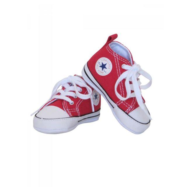 Converse Baskets all star bébé toile rouge bébé garçon
