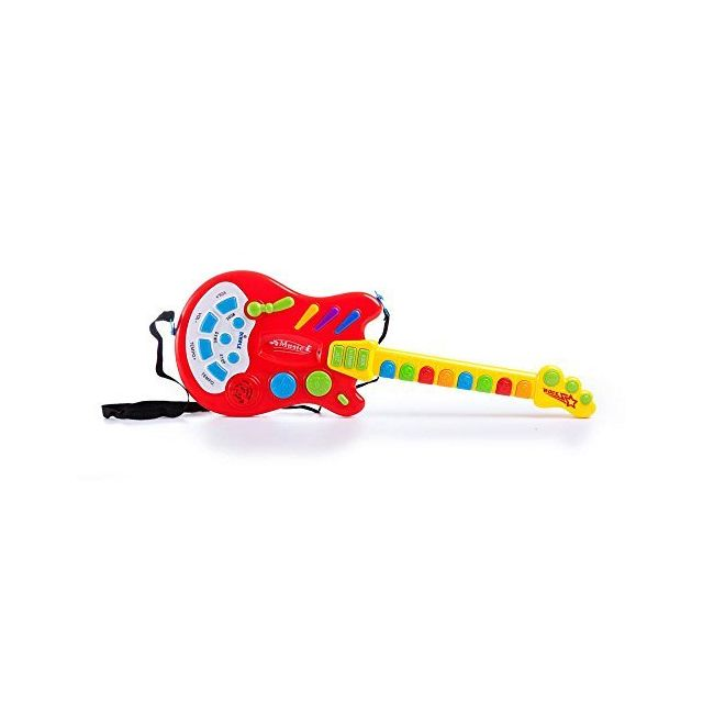 Dimple Kids Handheld Musical Electronic Toy Guitar for Children Plays Music Rock Drum & Electric Sounds Best Toy & Gift for Gir