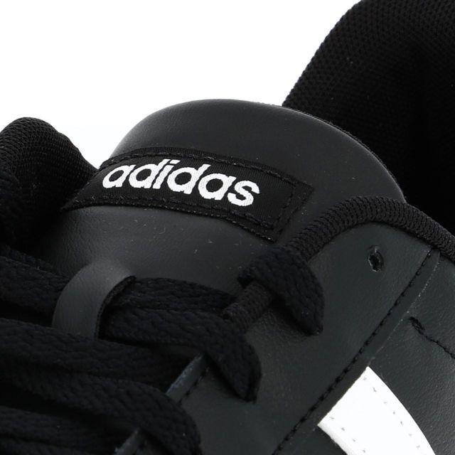 Adidas Chaussures mode ville Daily noir blc crepe Noir