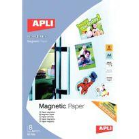 Apli - agipa - 10245 - feuille magnétique a4 - pochette de 8