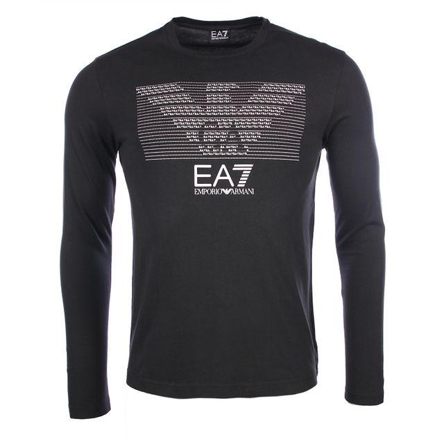 3a50d14d0abf Armani - Ea7 - Emporio - T-shirt regular fit noir 3YPTM3 - pas cher Achat    Vente Tee shirt homme - RueDuCommerce