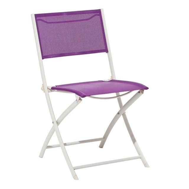 acier pliante textilène CARREFOUR et Violette Chaise v0NOP8nwym