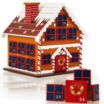 Rocambolesk - Superbe Calendrier de l'Avent - Maison en bois à remplir soi même - Décoration Noel neuf