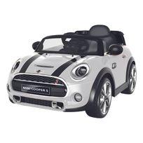 Happy Garden - Voiture électrique Mini Cooper - blanc