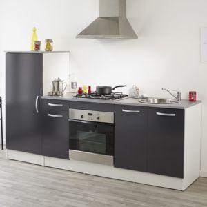 Alinéa - Miam Ensemble de meubles de cuisine gris - pas cher Achat ...