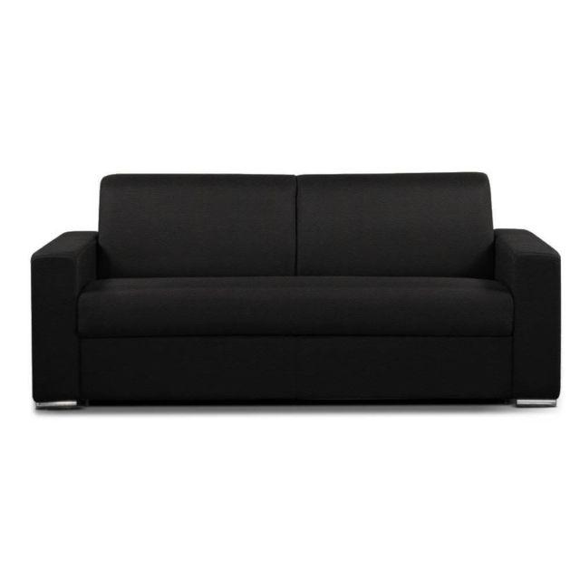 inside 75 canap convertible 2 3 places select matelas 16cm sommier lattes 120cm renatonisi. Black Bedroom Furniture Sets. Home Design Ideas