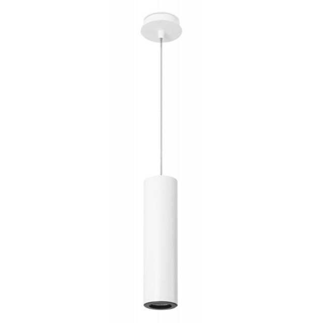 Leds C4 Suspension Pipe, aluminium, blanc et noir, 30 cm