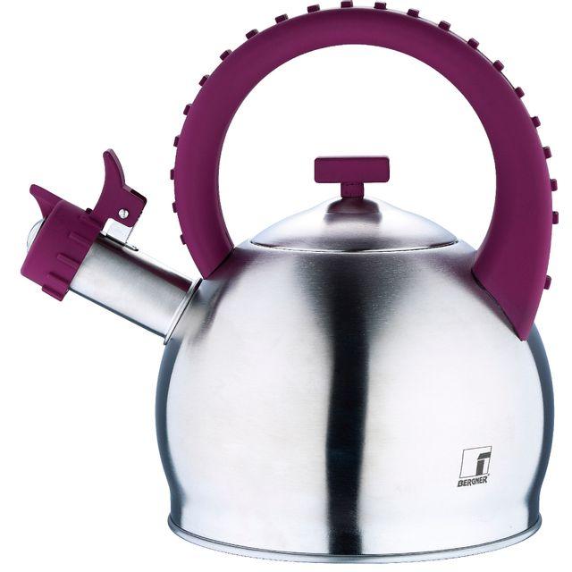 Bergner Symphony - Théières pour cuisinière acier inoxydable violet 2.8l bon pour linduction