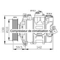 Storm - Compresseur de climatisation pour Volkswagen Touran 1.9 Tdi 02/2003-05/2010