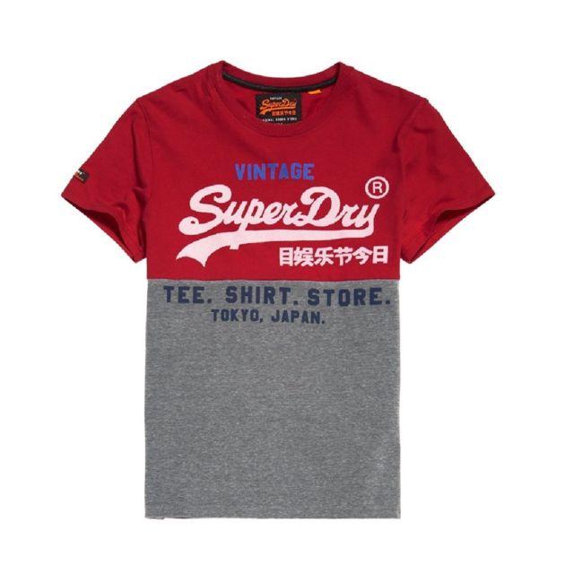 Pas Cher Superdry Hommes T Shirts Paris Boutique Réduction