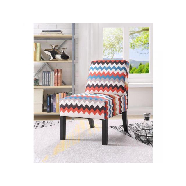 Bobochic Fauteuil en tissu Skye Multicolore