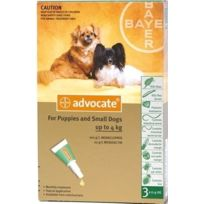 Bayer - Pack 3 X Advocate Antiparasitaire Chiens < 4 Kg