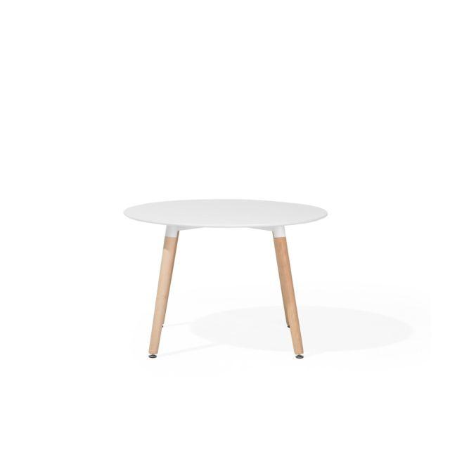 BELIANI Table de salle à manger blanche 120 cm BOVIO - blanc