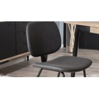 en HOMIFAB Jimmy simili cuir Lot 2 noir chaises de FTclK1J