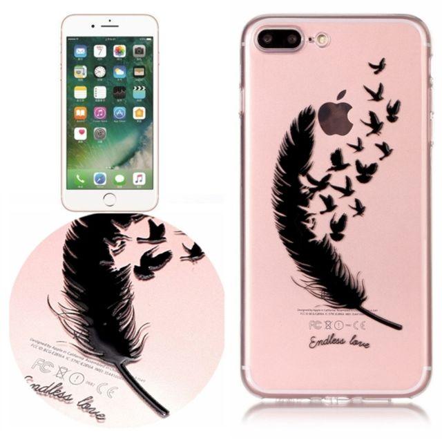 coque iphone 8 plus avec plume